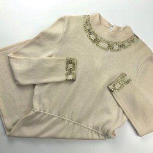 Vintage St. John Knit Embellished Dress